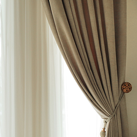 golden leaf curtains